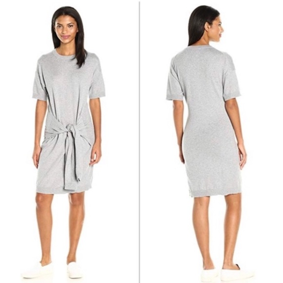 bce3d54fbc9 VINCE Gray Front Tie T-Shirt Dress size Large. M 5c74cd0caa8770c20943ba8c